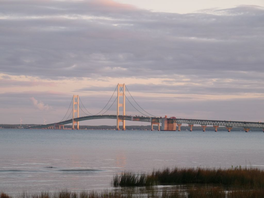 Crossing the Mackinac Bridge into Michigan's Upper Peninsula