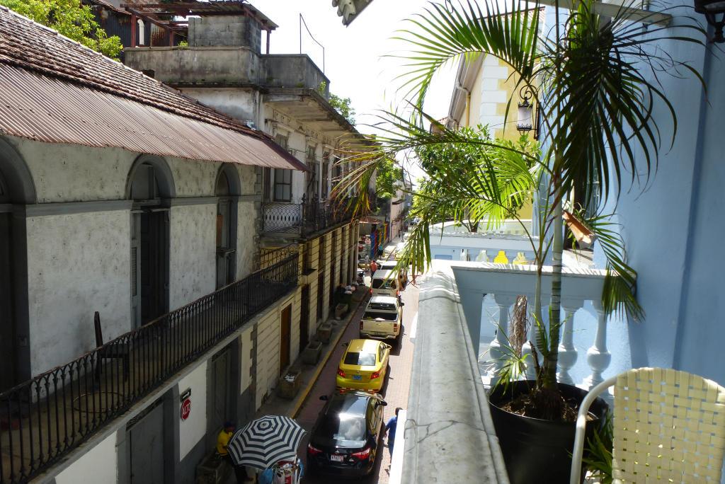 A view from the balcony of the Magnolia Inn, Casco Viejo, Panama