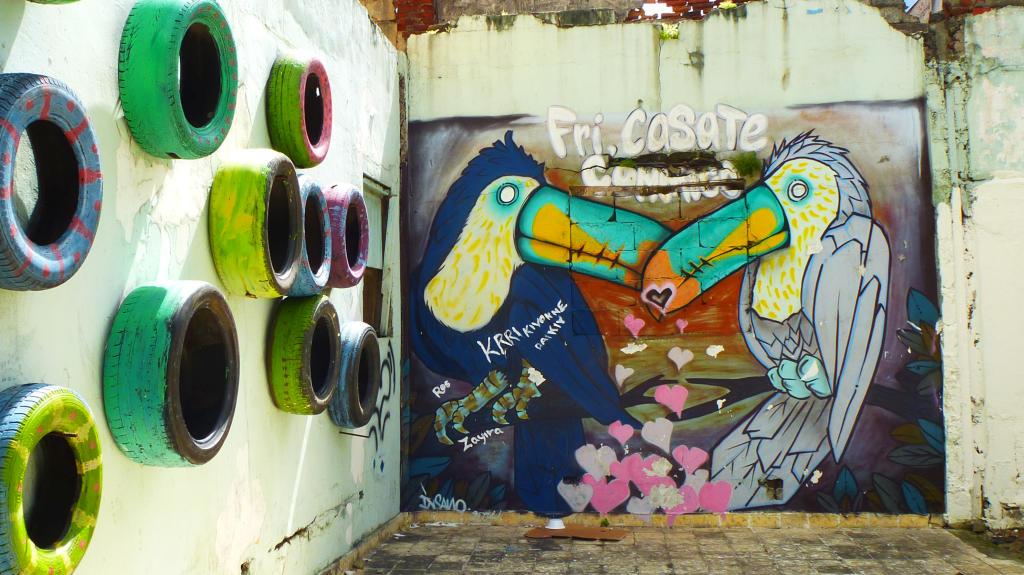 Some cool street art in Casco Viejo, Panama
