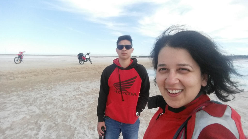 Met this super cool local guy who took me riding to the salt flats and sand dunes. It. Was. The. Best.