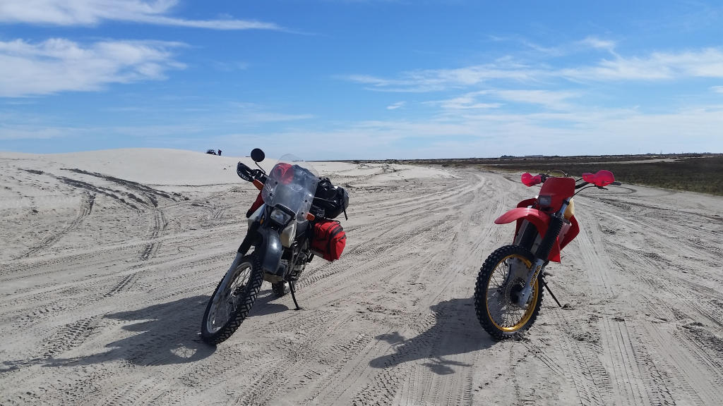 The sand dunes in Guerrero Negro