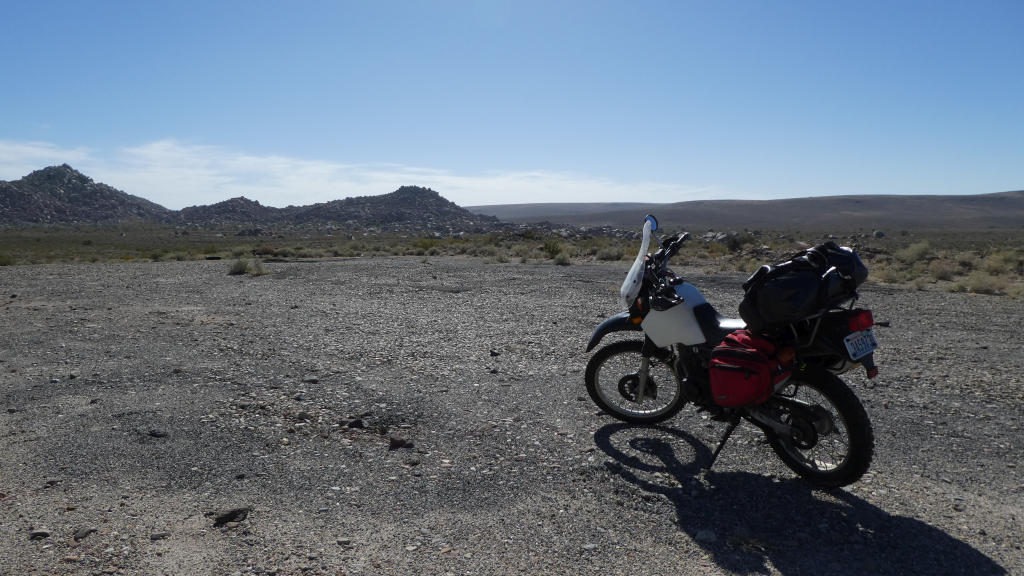 A lot of the riding looked like this - volcanic, bleak, miles of nothingness.