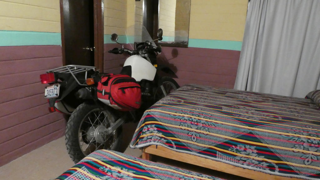Sleeping with your bike. Like you do.