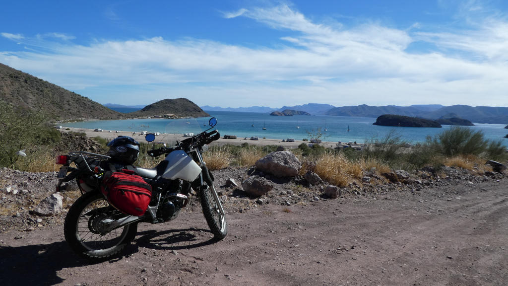 On Christmas Day, I rode south to Bahia de Concepcion. This is the farthest south I rode in Baja.