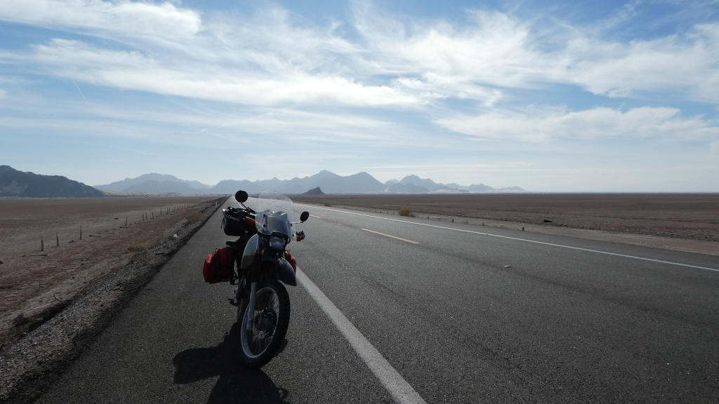 It was flat for hundreds of miles going towards Mexicali but the mountains were incredible!